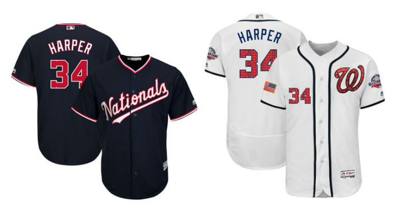 san francisco 2af1a 4b31b Bryce Harper Nike Jerseys Coming 2020 Washington Nationals ...