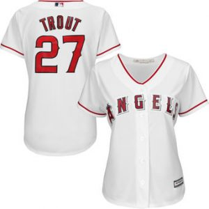 Mike Trout White Jersey