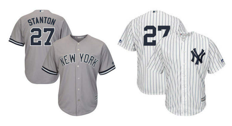 e94a7447f Giancarlo Stanton Nike Jerseys Coming 2020 New York Yankees On-Field ...